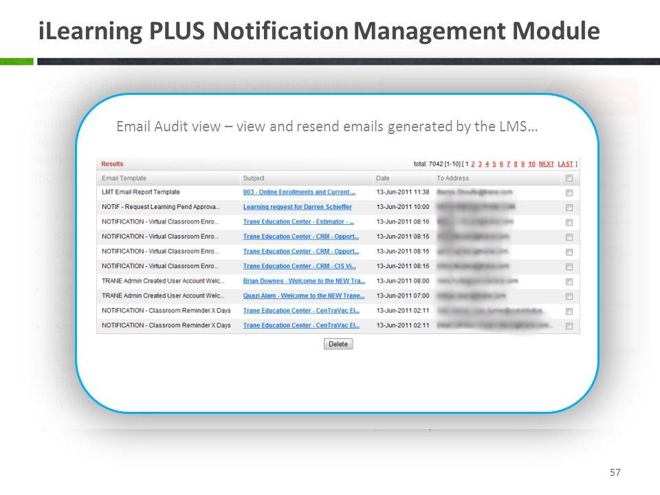 iLearning PLUS Notification Management Module