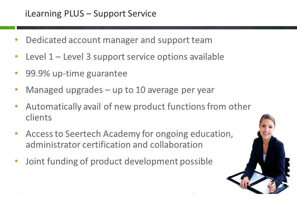 iLearning PLUS – Support Service