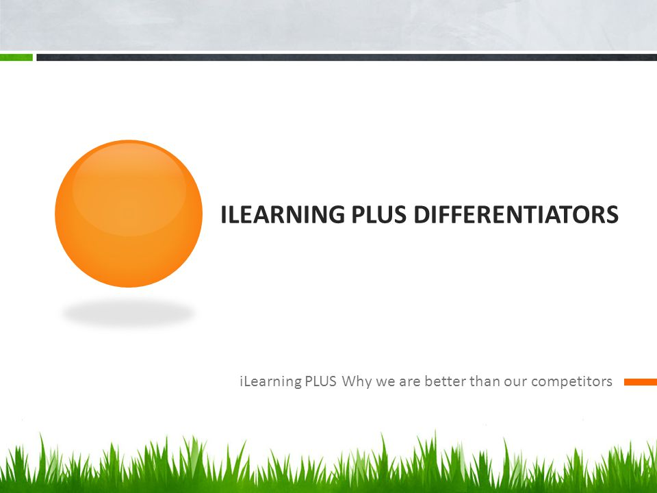 iLearning PLUS DIFFERENTIators