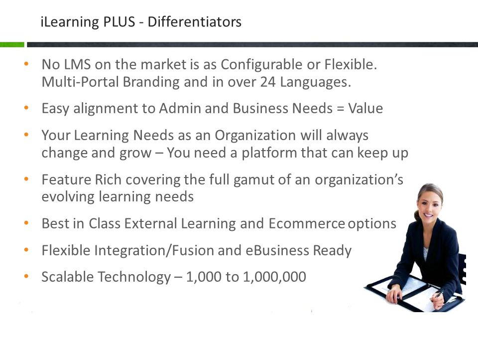 iLearning PLUS - Differentiators