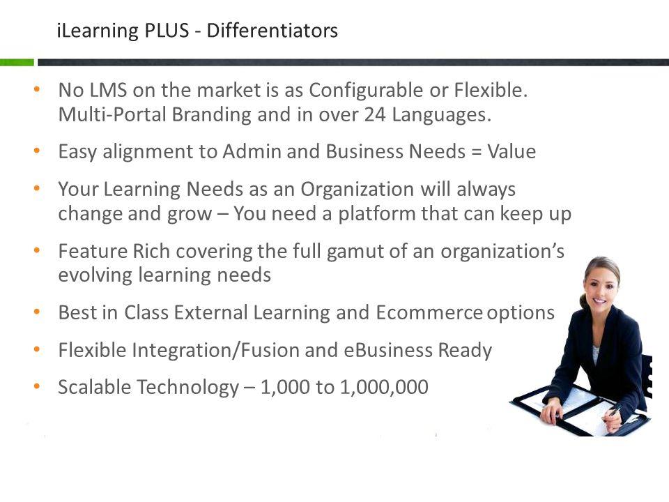 iLearning PLUS - Differentiators