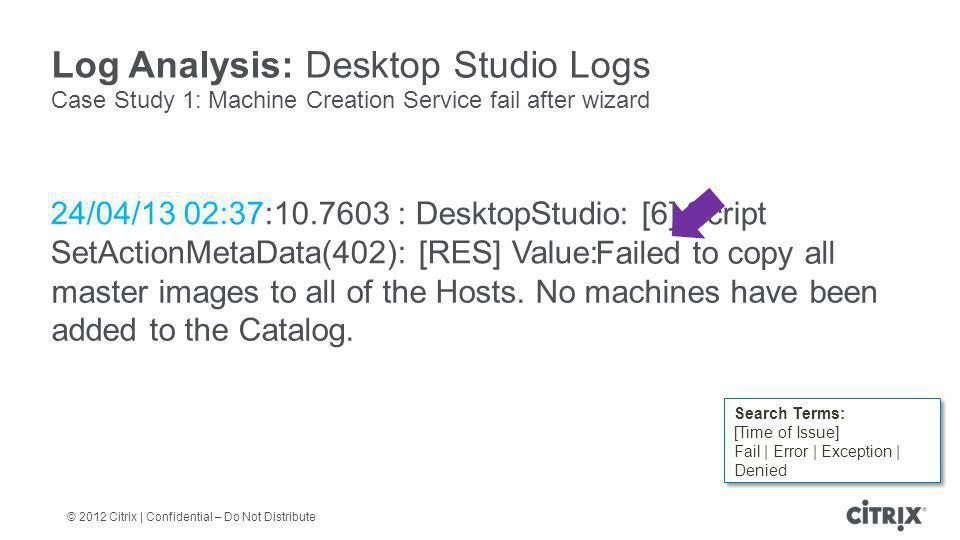 Log Analysis: Desktop Studio Logs
