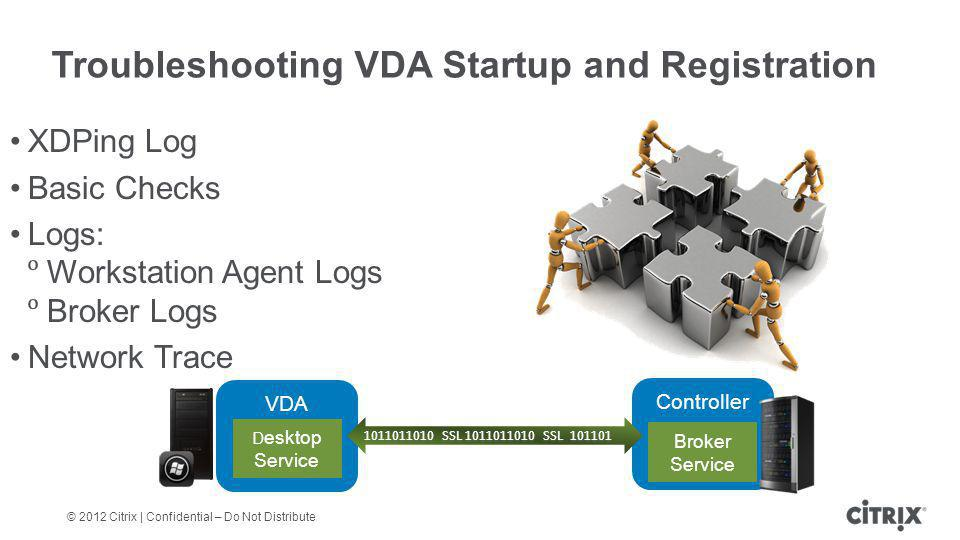 Troubleshooting VDA Startup and Registration
