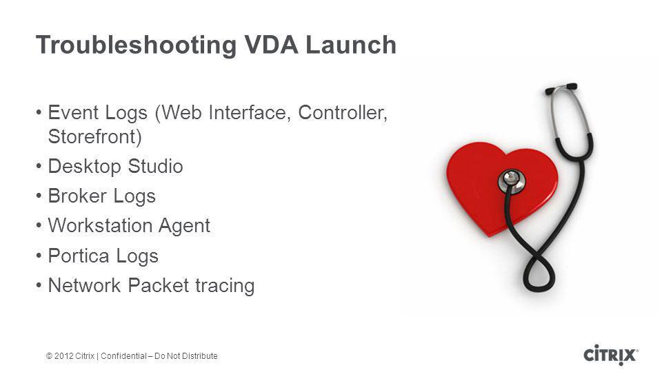 Troubleshooting VDA Launch