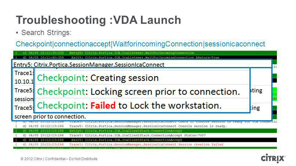 Troubleshooting :VDA Launch