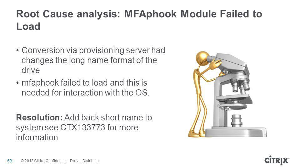 Root Cause analysis: MFAphook Module Failed to Load