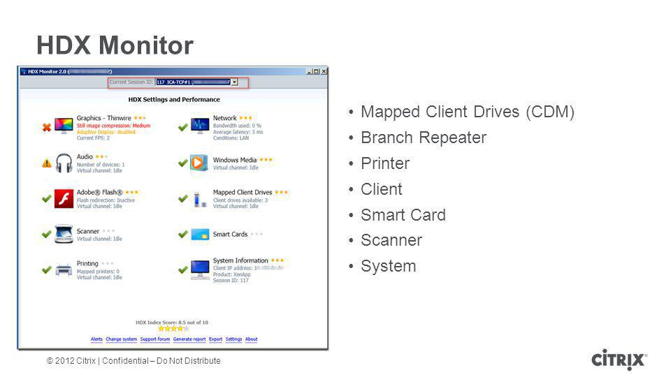HDX Monitor Mapped Client Drives (CDM) Branch Repeater Printer Client