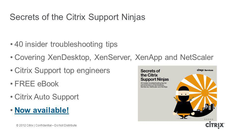Secrets of the Citrix Support Ninjas