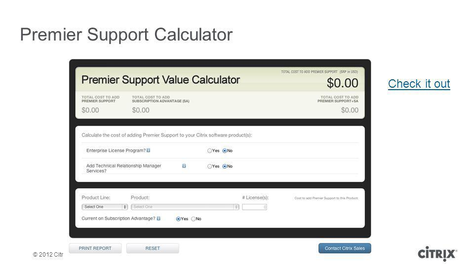 Premier Support Calculator