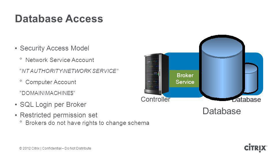 Database Access Database Security Access Model SQL Login per Broker