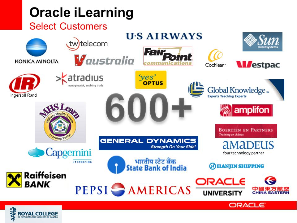 Oracle iLearning Select Customers