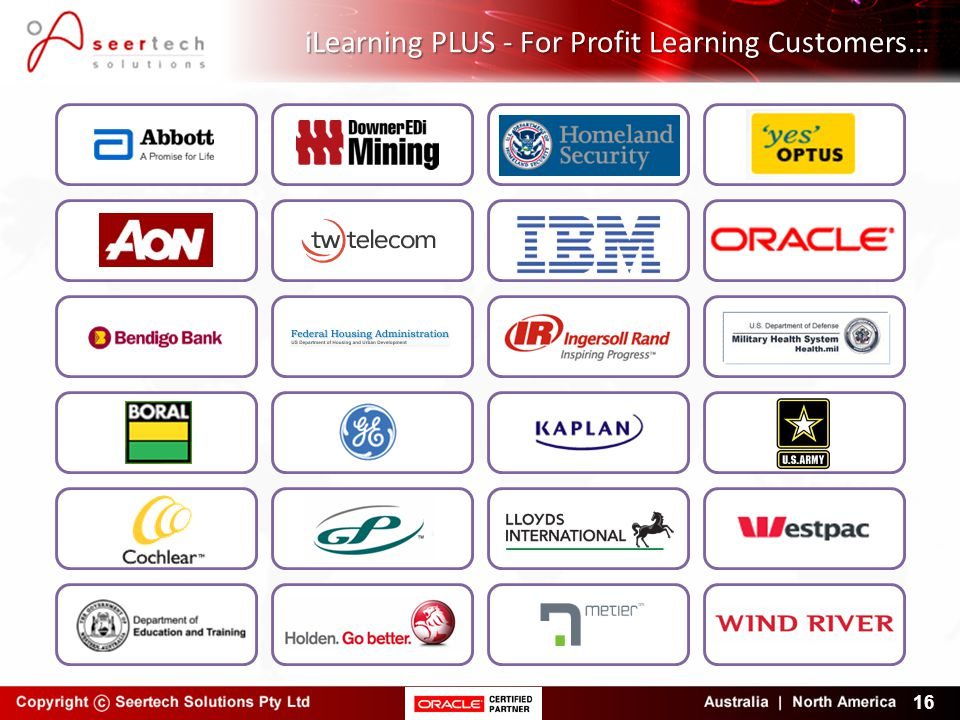 iLearning PLUS - For Profit Learning Customers…