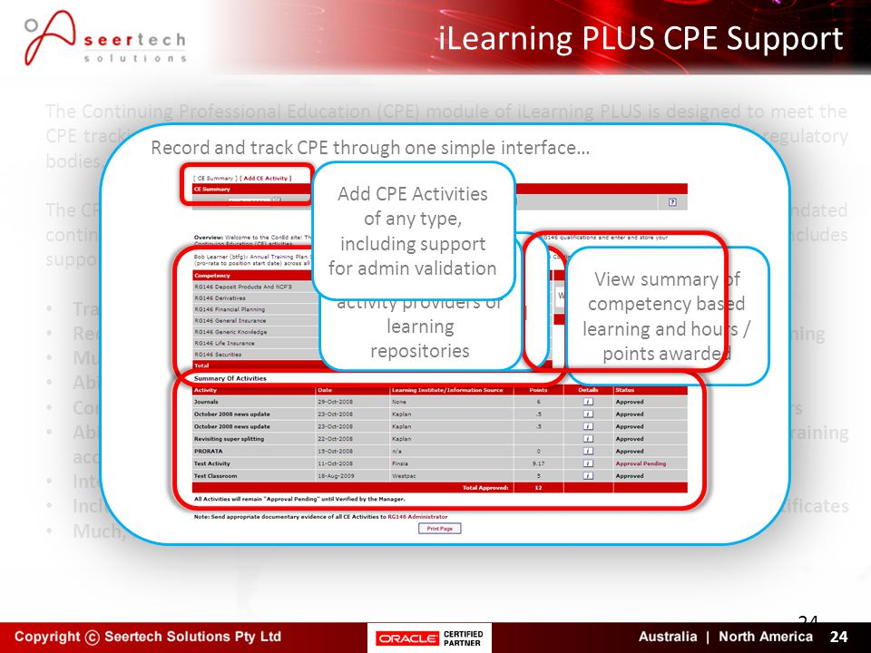iLearning PLUS CPE Support