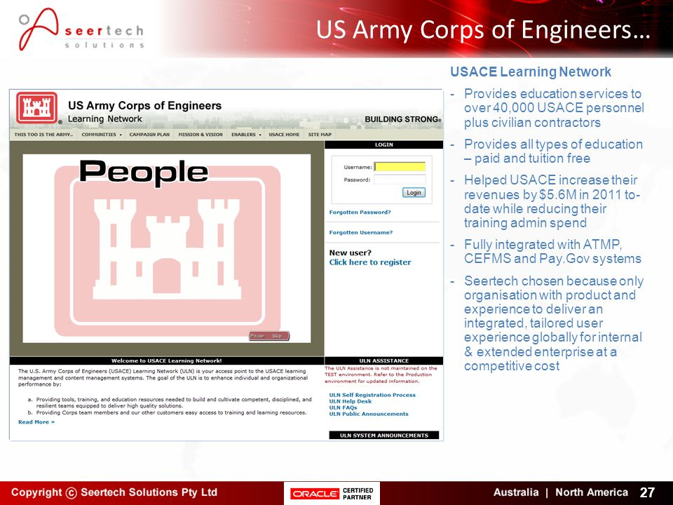 US Army Corps of Engineers…