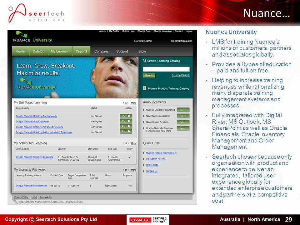 Nuance… Nuance University