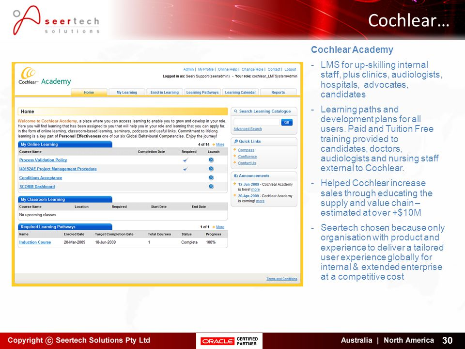 Cochlear… Cochlear Academy