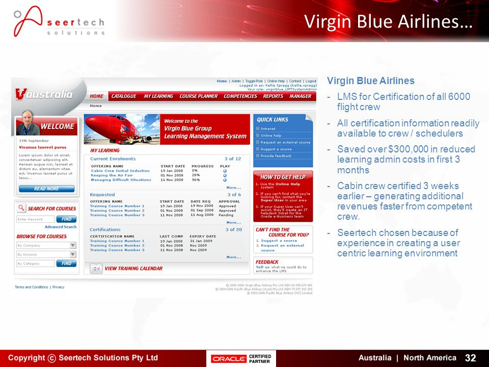 Virgin Blue Airlines… Virgin Blue Airlines