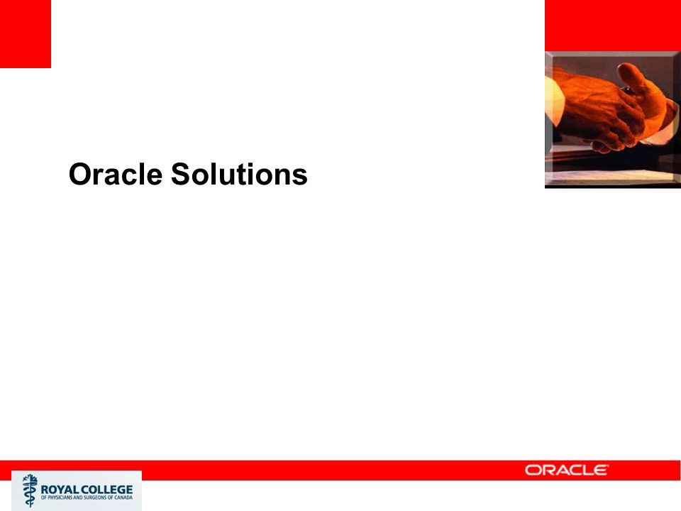 Oracle Solutions <Insert Picture Here>