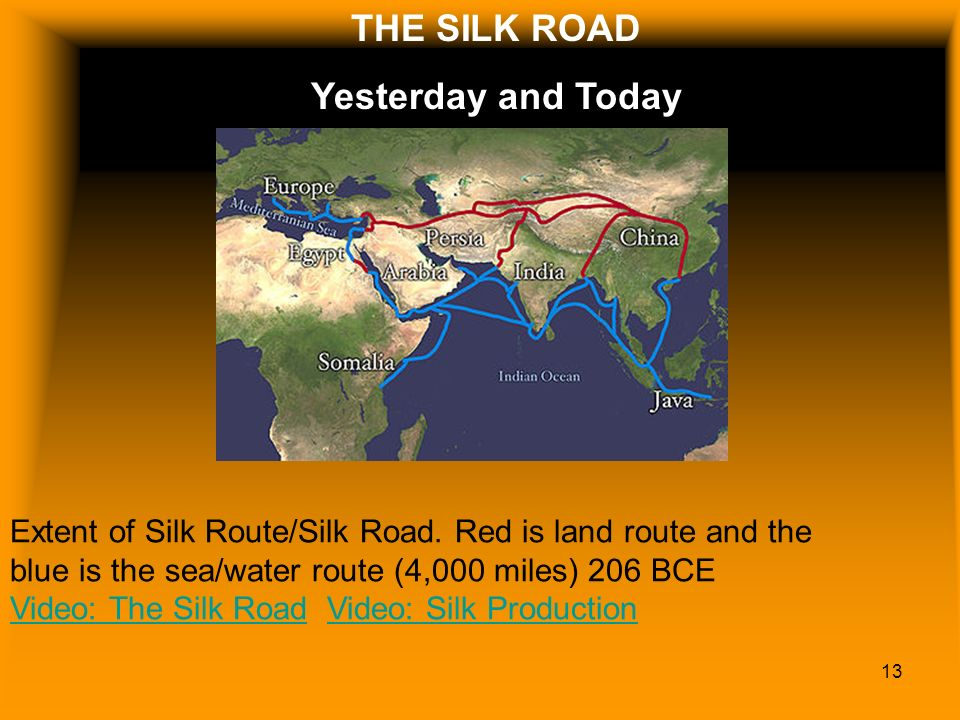 Silk road THE SILK ROAD Yesterday and Today