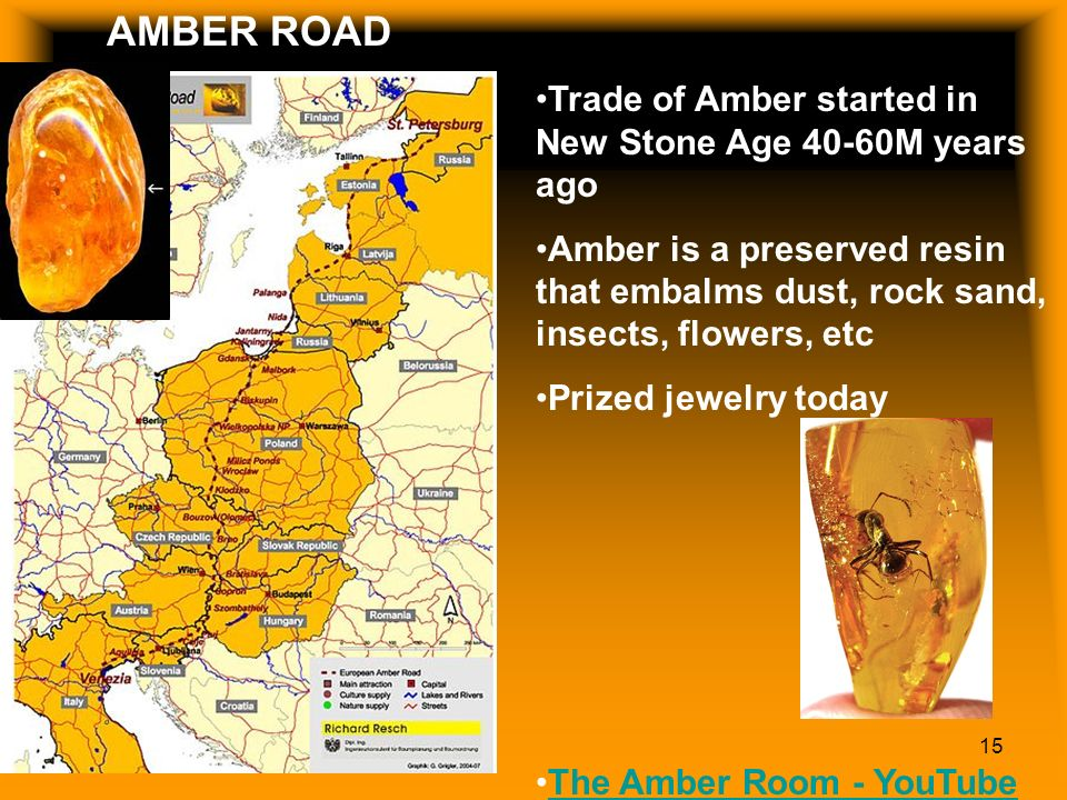 AMBER TRADE ROUTE AMBER ROAD