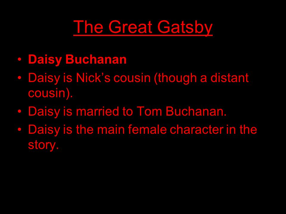 The Great Gatsby Daisy Buchanan