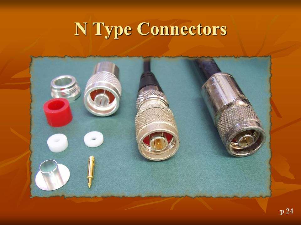 N Type Connectors N Type Connectors p 24