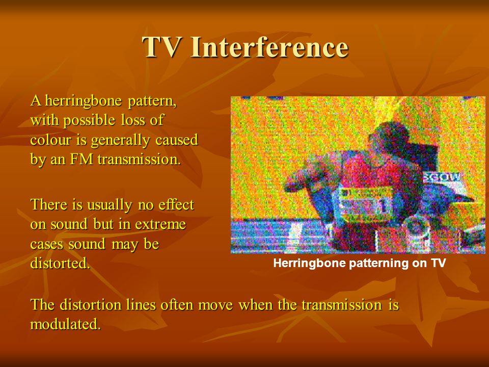 Herringbone patterning on TV