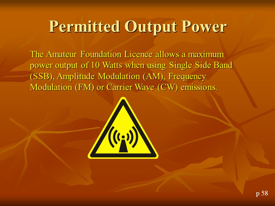 Permitted Output Power