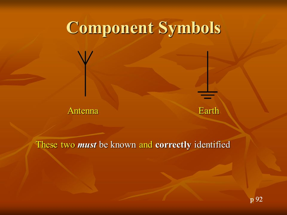 Component Symbols Antenna Earth
