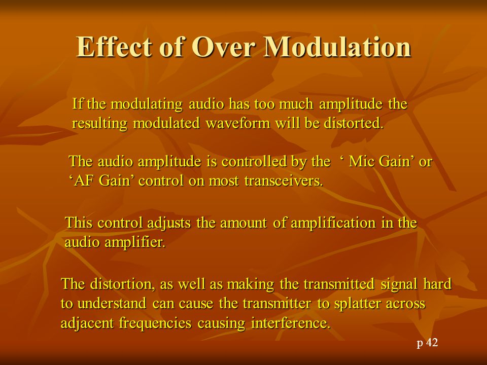 Effect of Over Modulation