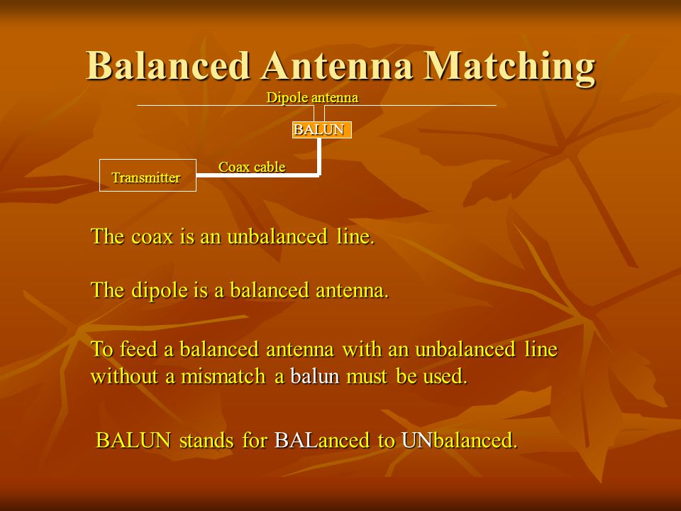 Balanced Antenna Matching
