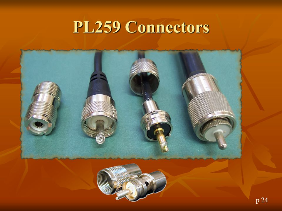 PL259 Connectors PL259 Connectors p 24