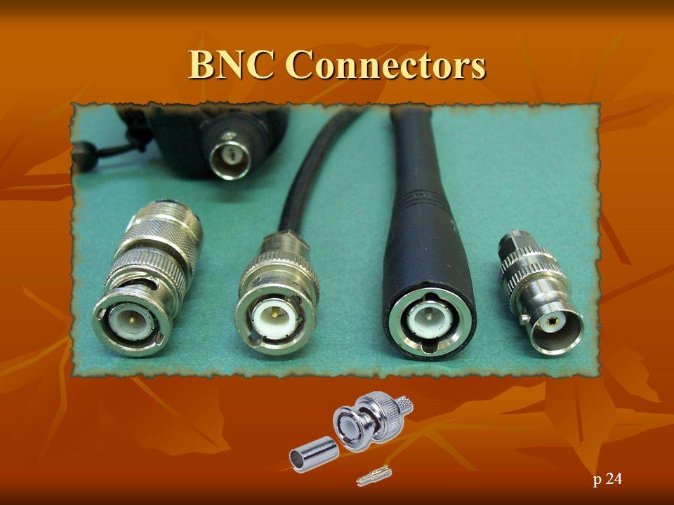 BNC Connectors BNC Connectors p 24