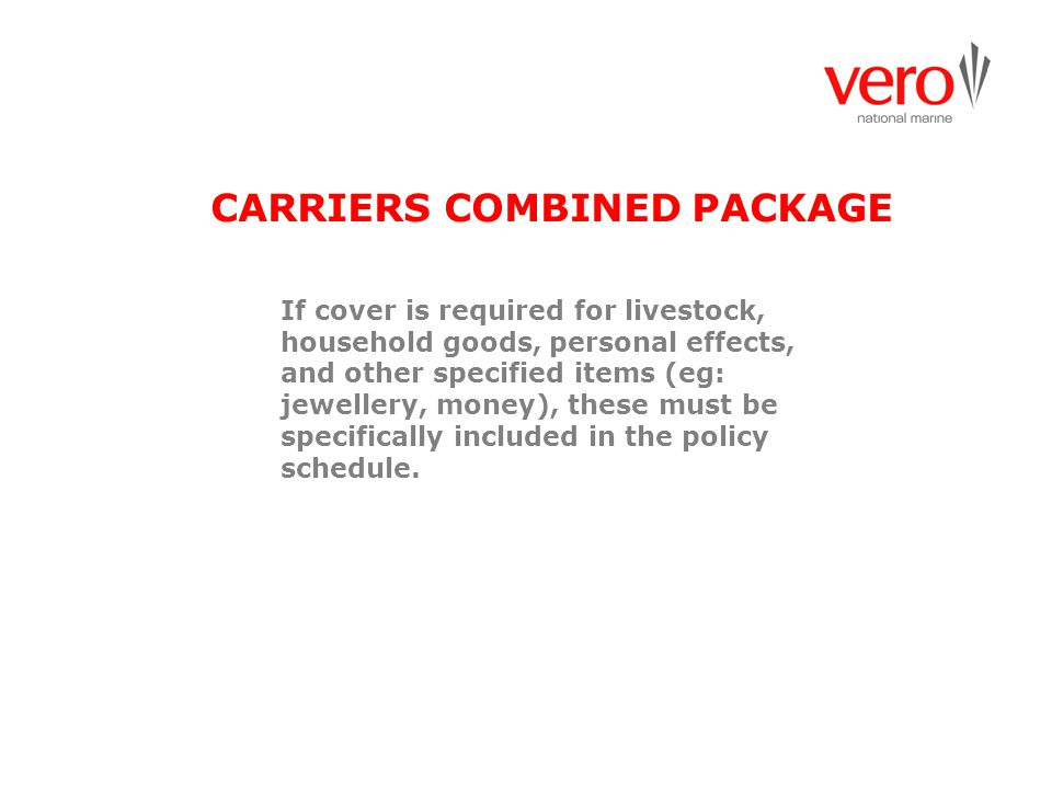 CARRIERS COMBINED PACKAGE