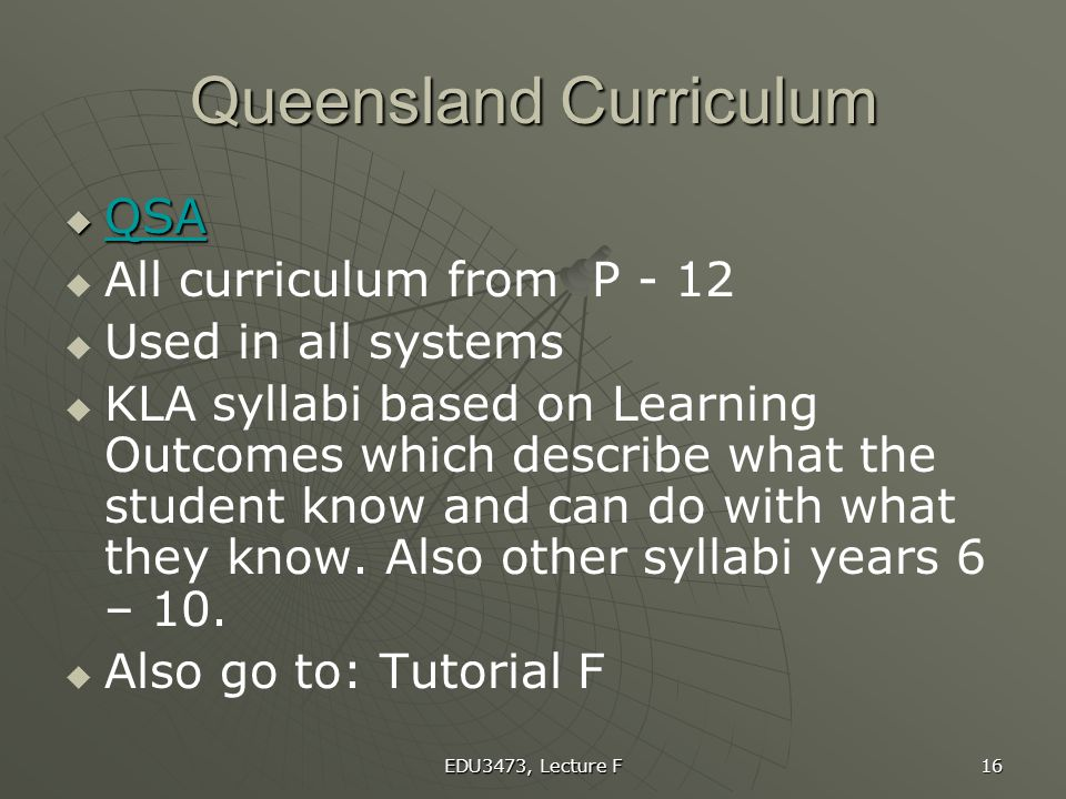 Queensland Curriculum