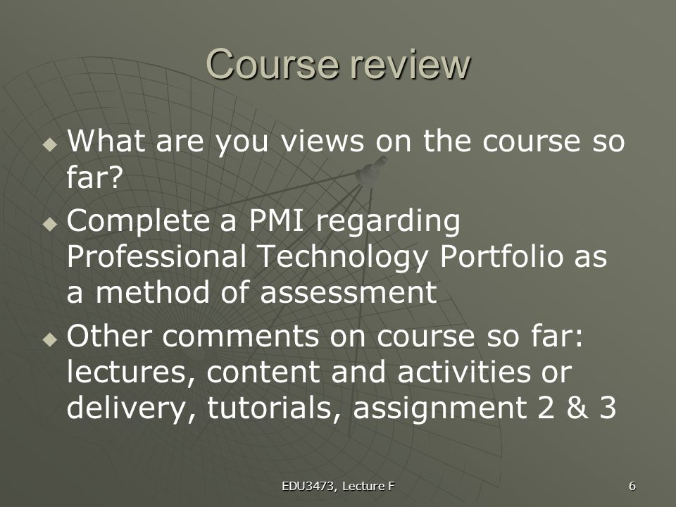 Course review What are you views on the course so far