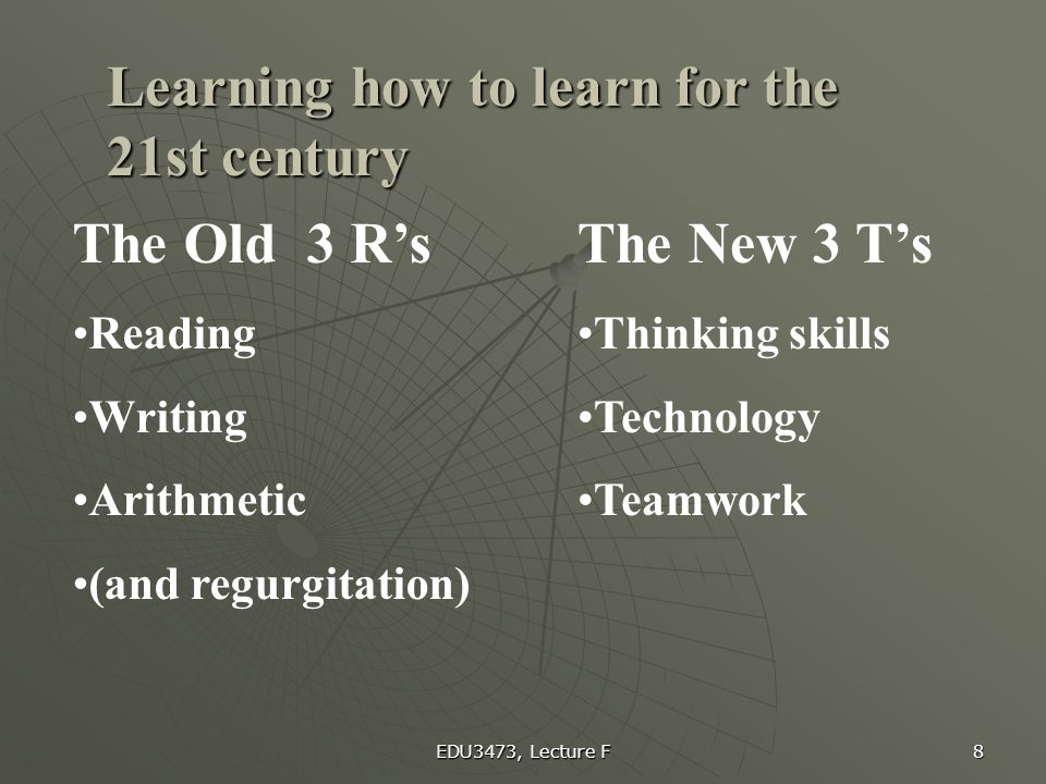 Learning how to learn for the 21st century