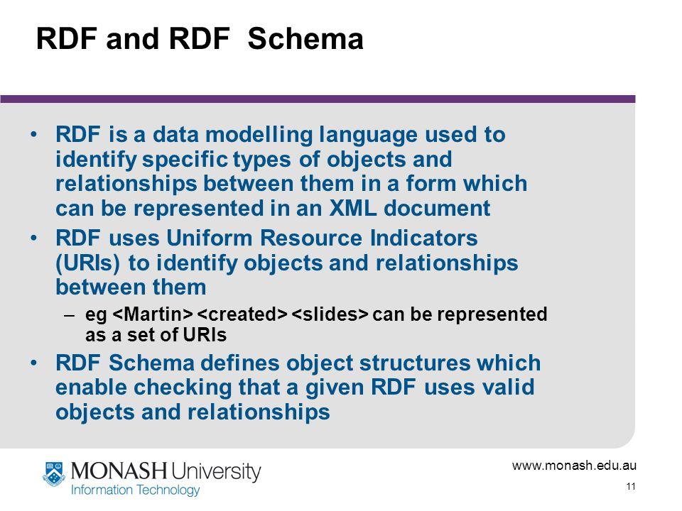 RDF and RDF Schema