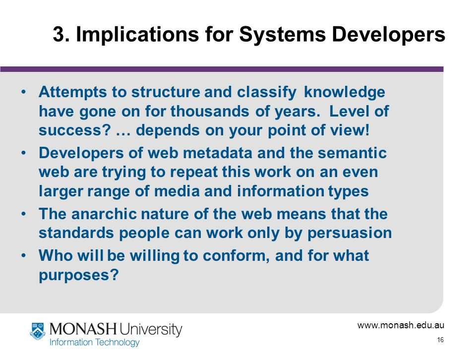 3. Implications for Systems Developers