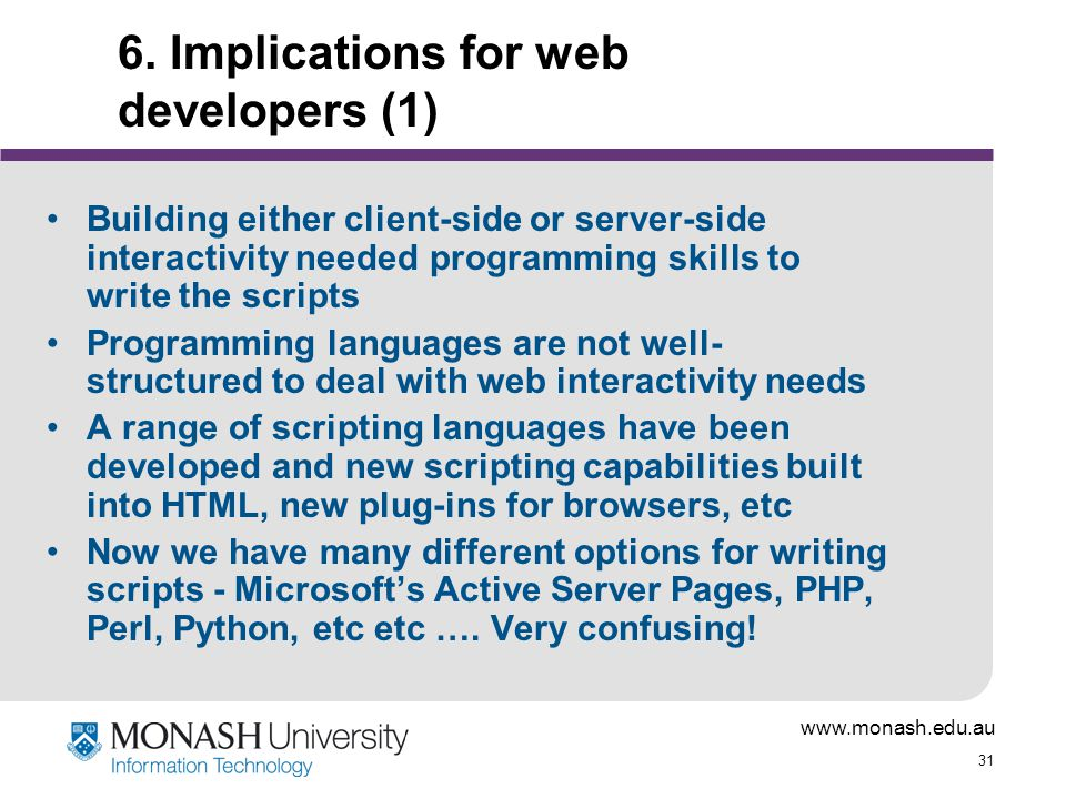6. Implications for web developers (1)