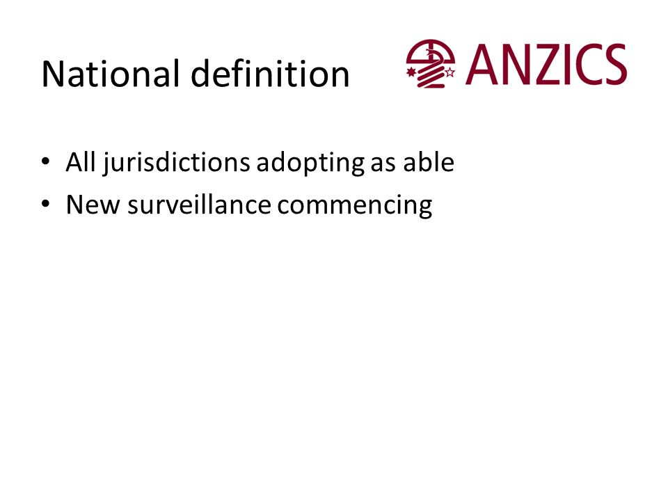 National definition All jurisdictions adopting as able