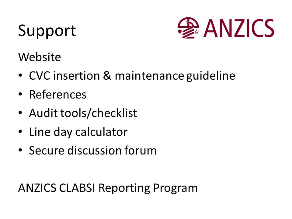 Support Website CVC insertion & maintenance guideline References