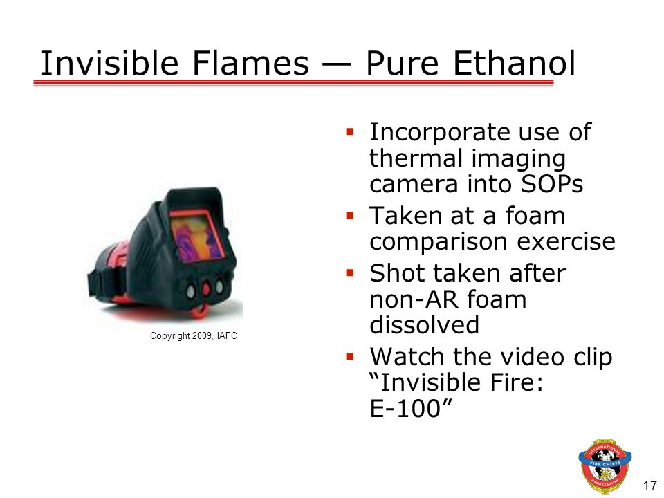 Invisible Flames — Pure Ethanol