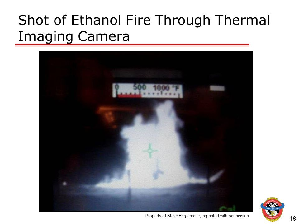 Shot of Ethanol Fire Through Thermal Imaging Camera