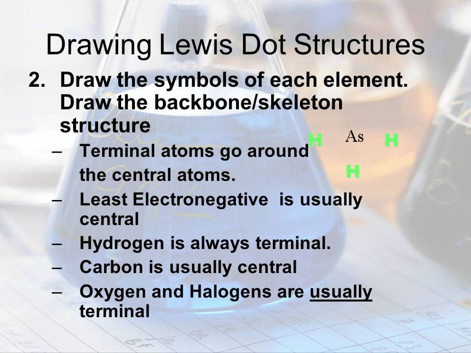 Drawing Lewis Dot Structures