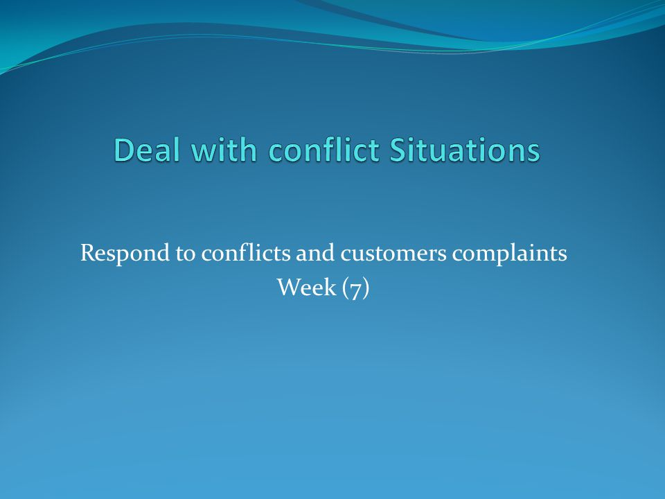 how to respond to conflicts with
