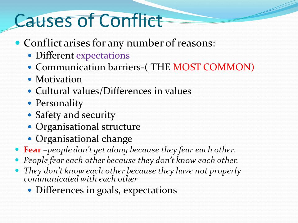 deal with conflict situation assignment Read this essay on conflict management to a given situation intragroup conflict is when to submit the assignment titled conflict management of.