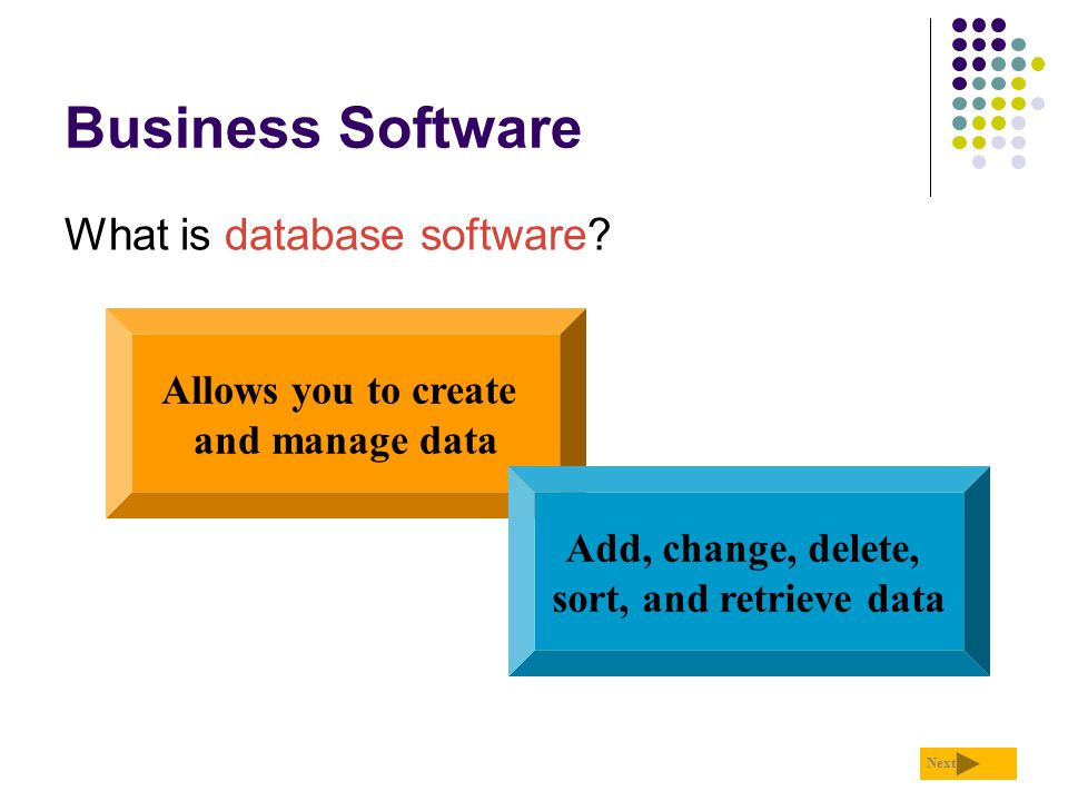 Business Software What is database software