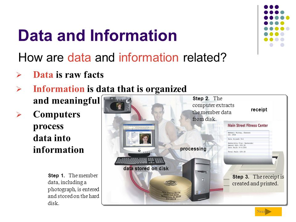Data and Information How are data and information related