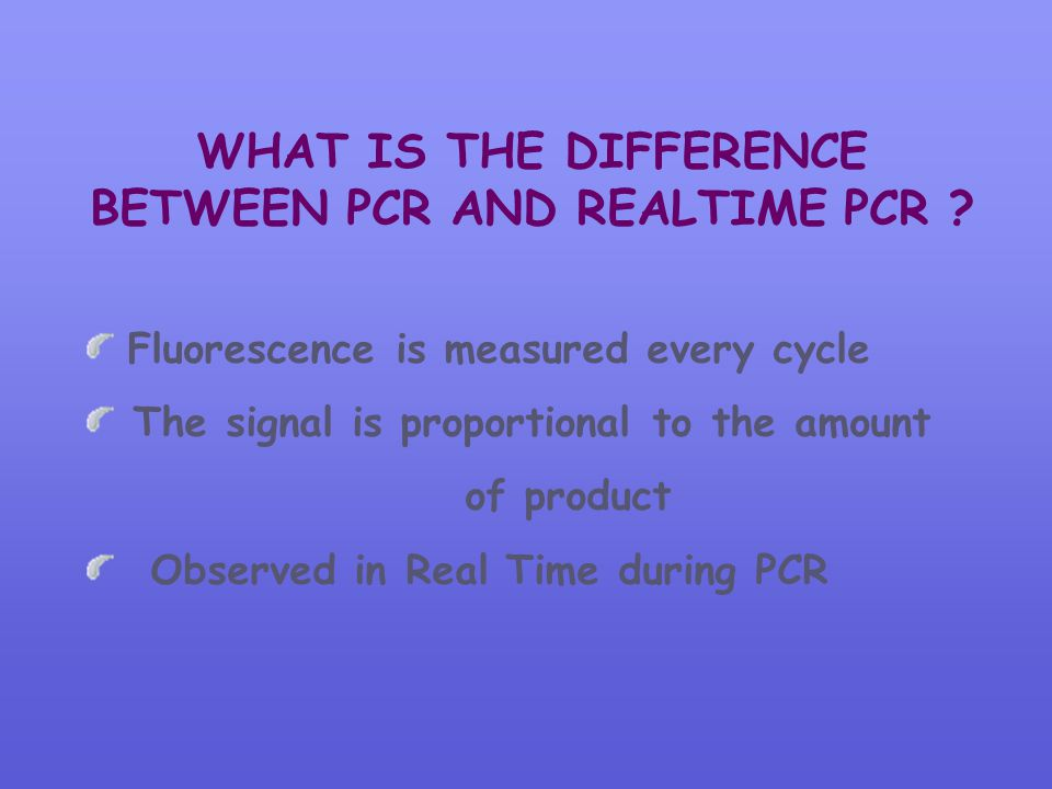 WHAT IS THE DIFFERENCE BETWEEN PCR AND REALTIME PCR